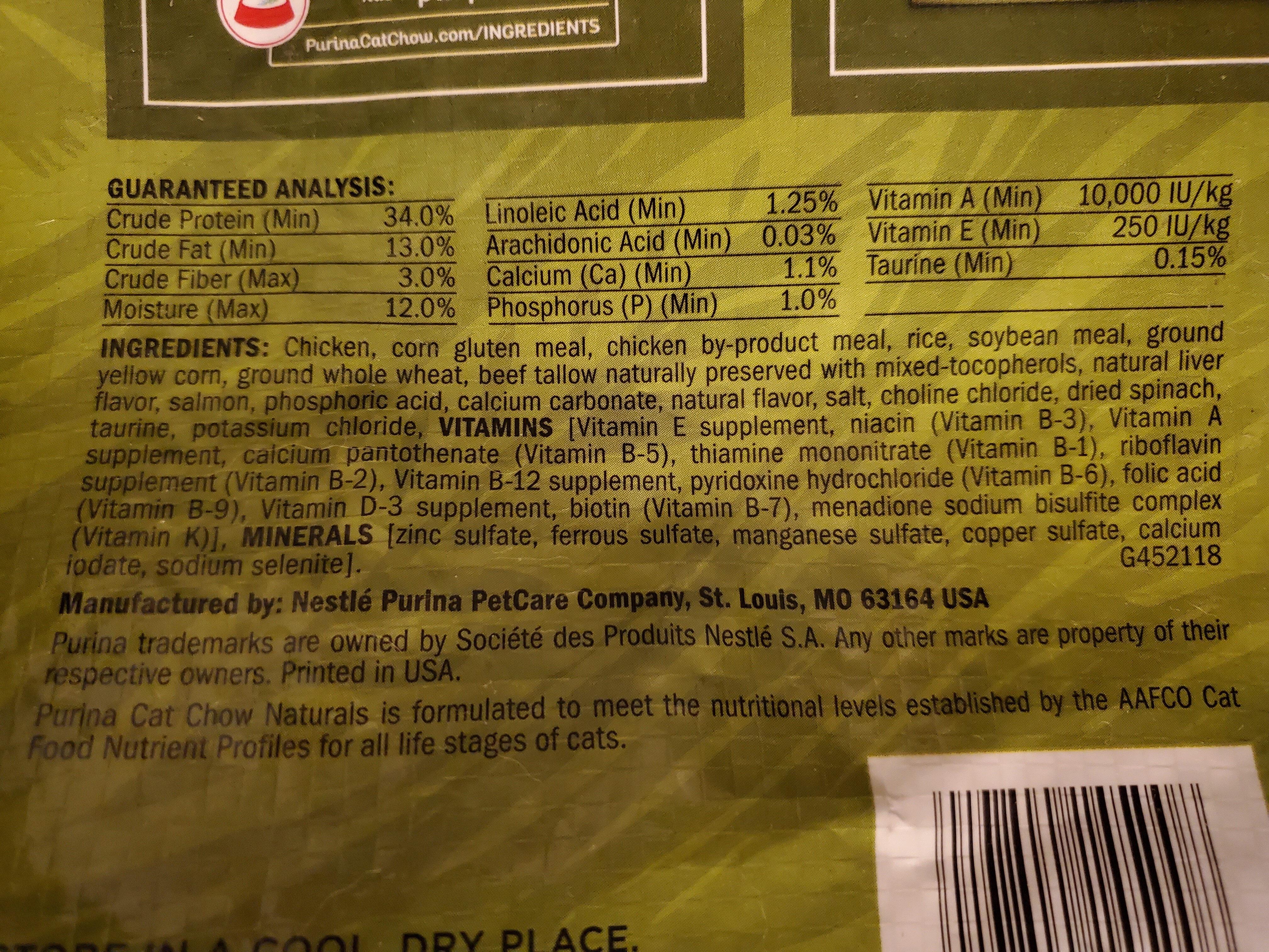 Purina Cat Chow Naturals - Ingredients - en
