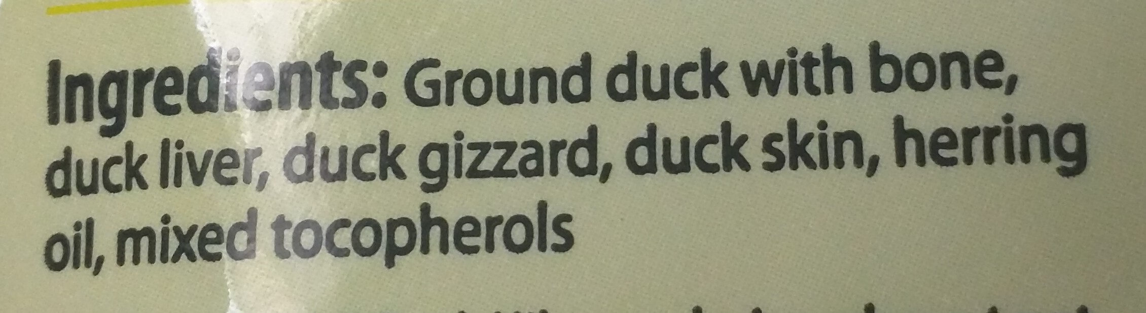 Duck nibs - Ingredients - en