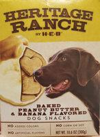 Baked Peanut Butter & Banana Flavored Dog Snacks - Product - en
