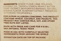 Baked Peanut Butter & Banana Flavored Dog Snacks - Ingredients - en