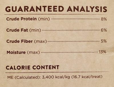 Baked Peanut Butter & Banana Flavored Dog Snacks - Nutrition facts - en