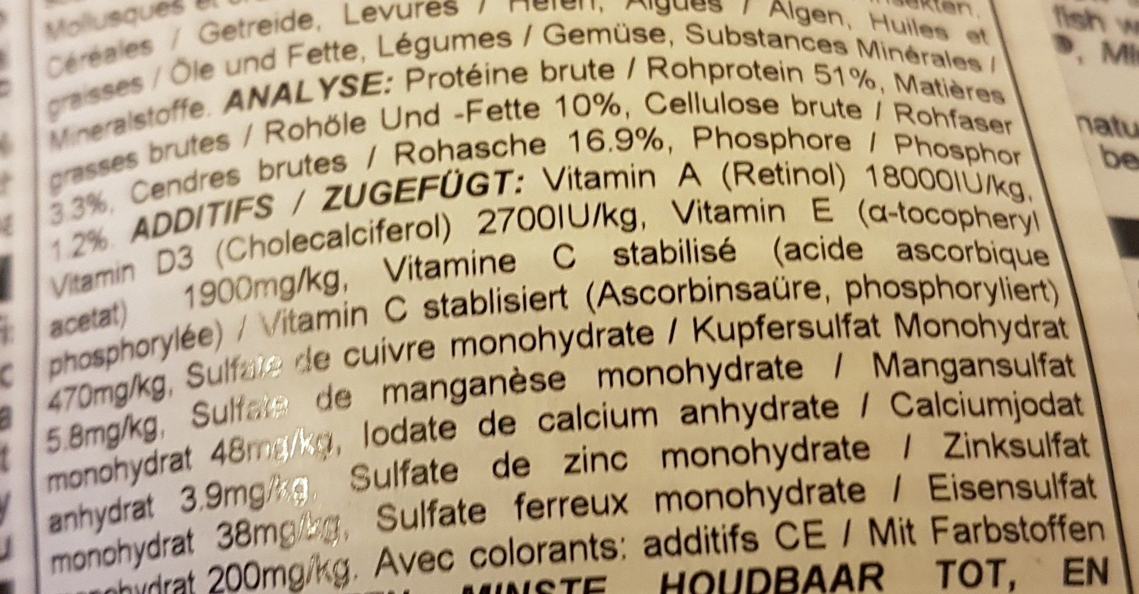 Marine S - Ingredients - fr