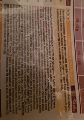 hills urinary health sterilised cat - Ingredients