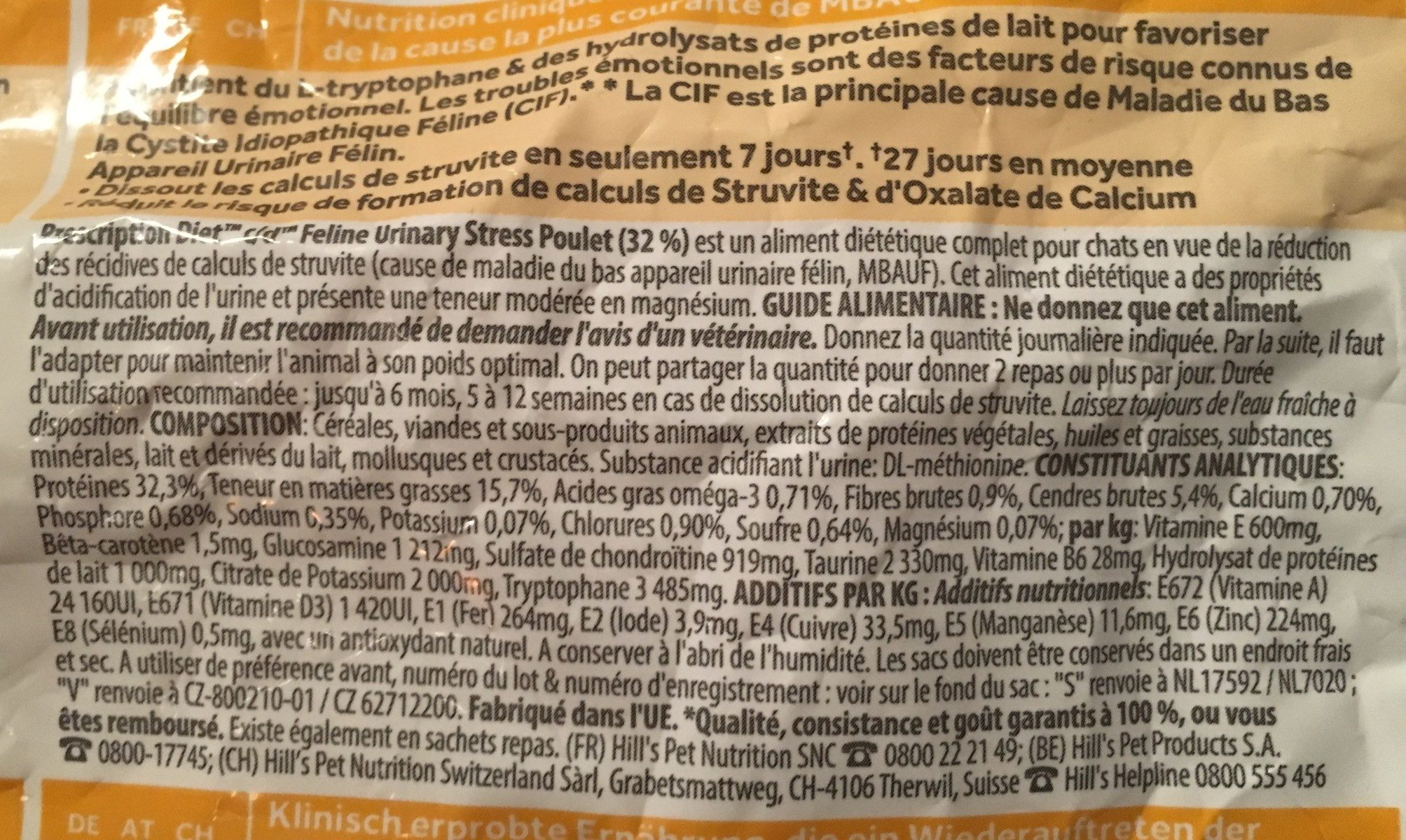 Urina care - Ingredients - fr