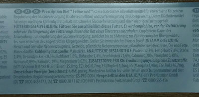 m/d Prescription Diet Diabetes - Ingredients
