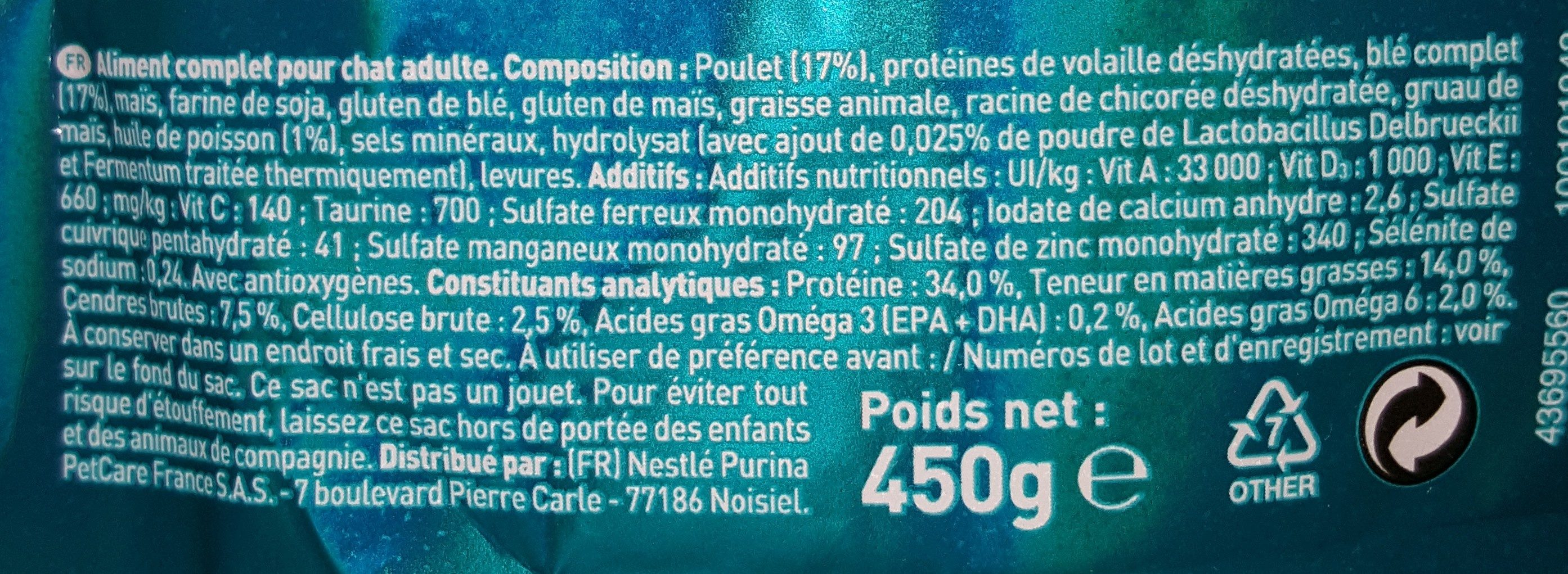 Urinary Care - Nutrition facts
