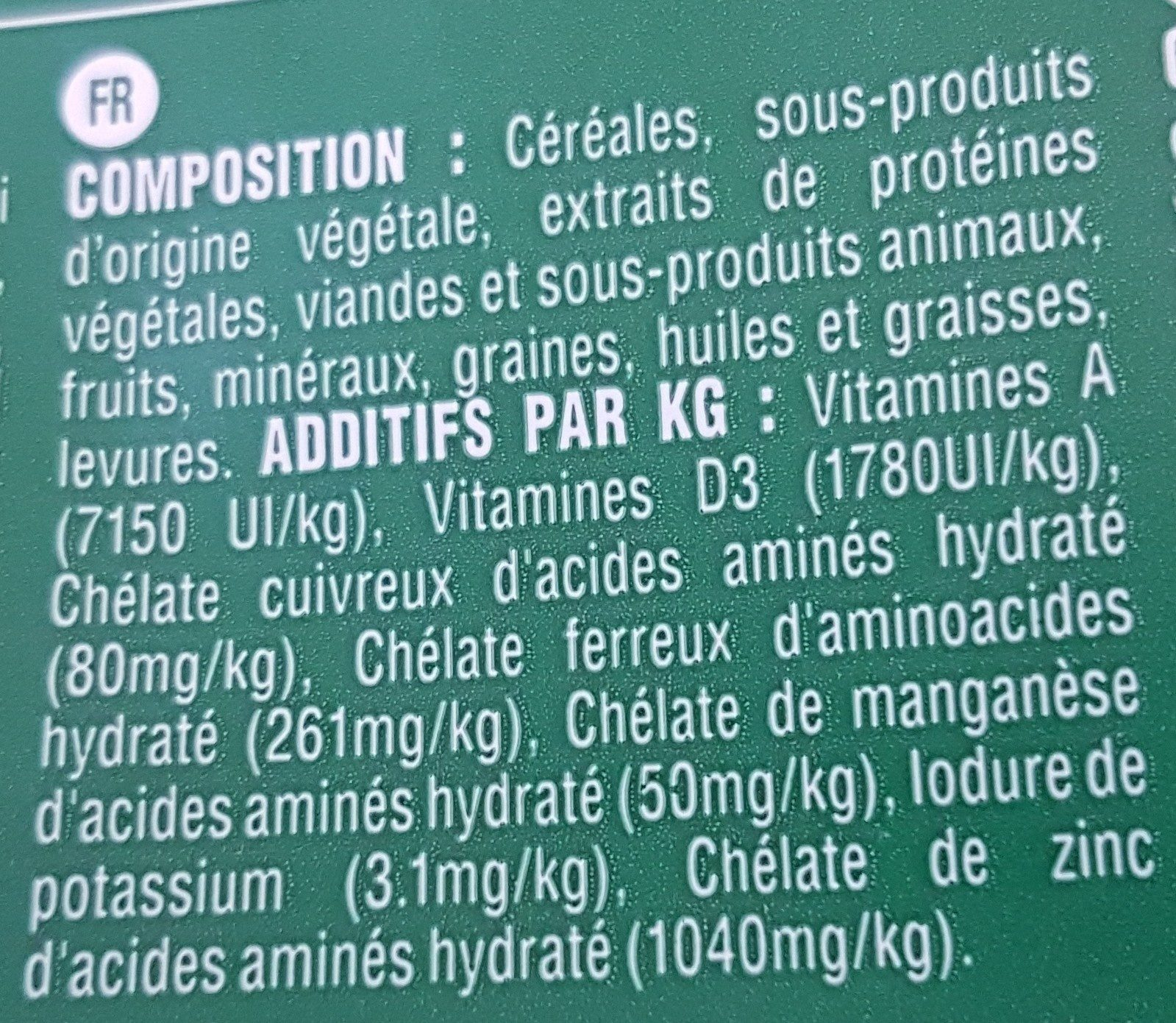 Greenies - Bâtonnets à Mâcher Pour L'hygiène Dentaire Pour Mini Chien - X43 - Ingredients - fr