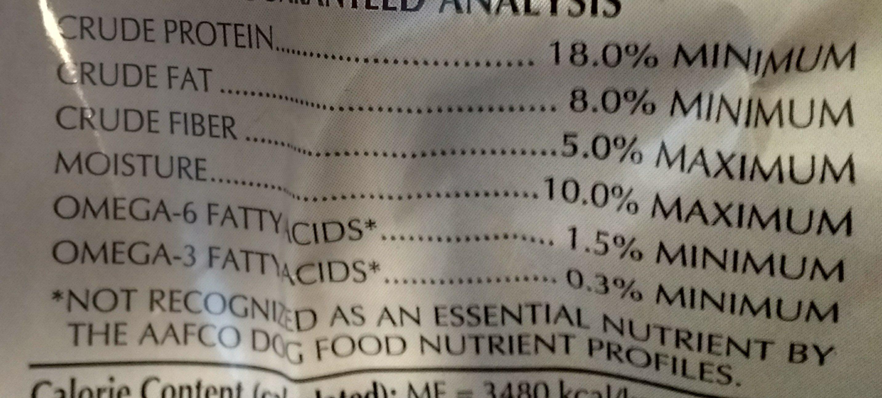 Natural Balance Dog Food Vegan - Nutrition facts - en