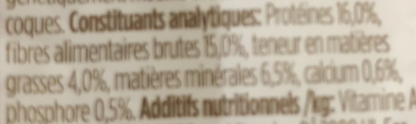 Balanced Guinea Pig Food - Nutrition facts - fr