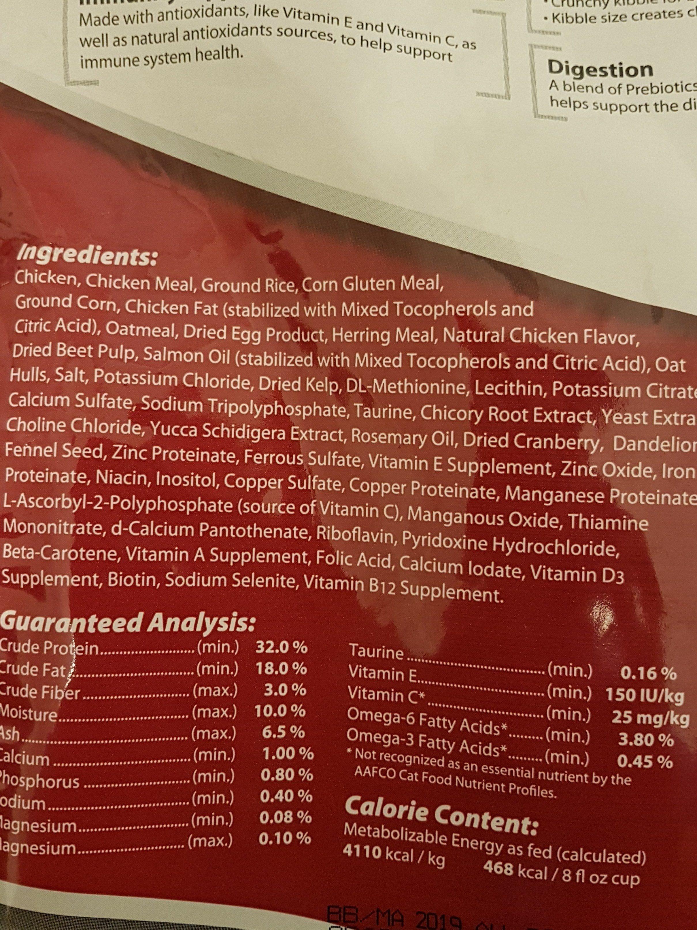 Performatrin - Ingredients