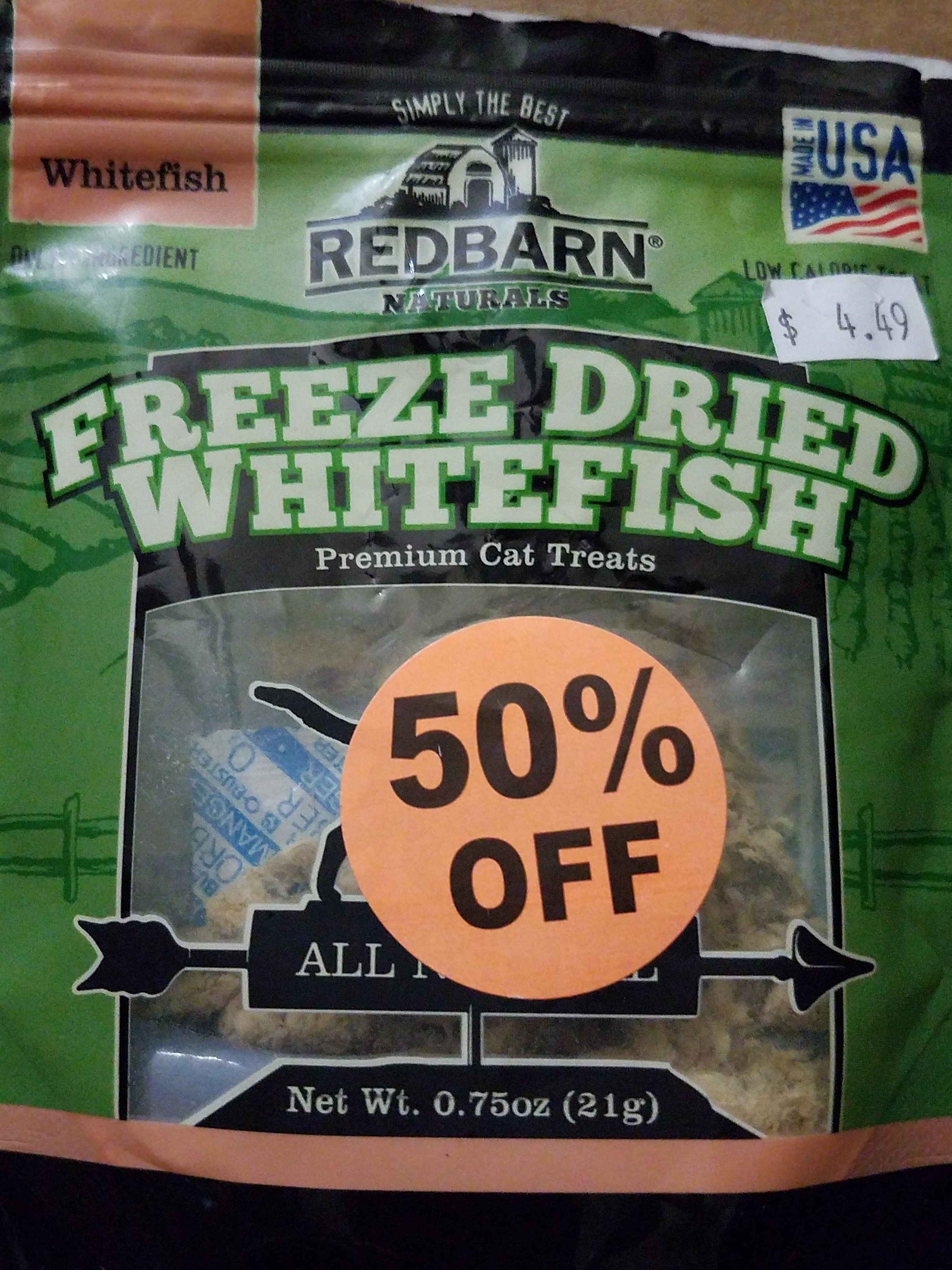 Freeze Dried Whitefish Cat Treats - Product