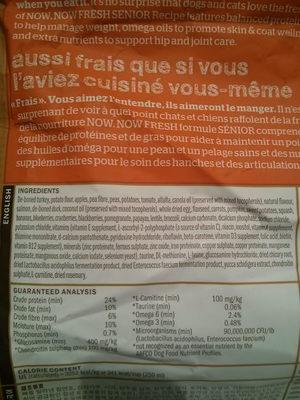 NOW FRESH Grain Free Senior Recipe - Ingredients - en