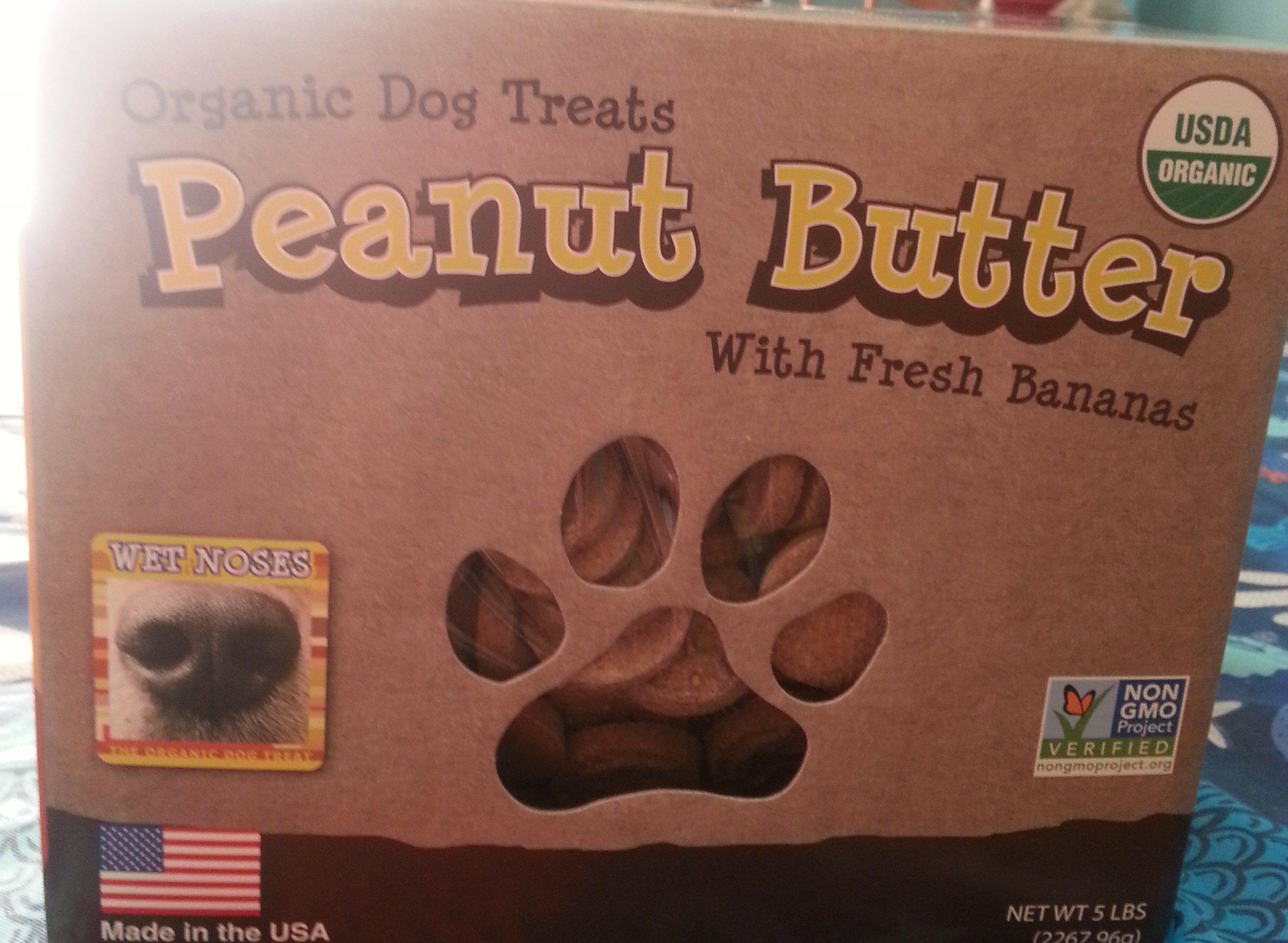 organic dog treats peanut butter with fresh bannas - Product - en