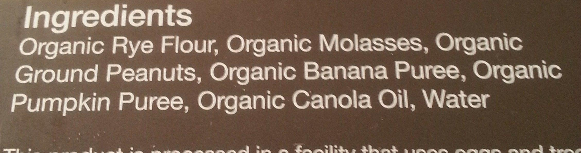 organic dog treats peanut butter with fresh bannas - Ingredients - en