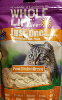 Whole Life Pet just one ingredient whole cat food treats pure chicken breast - Product - en