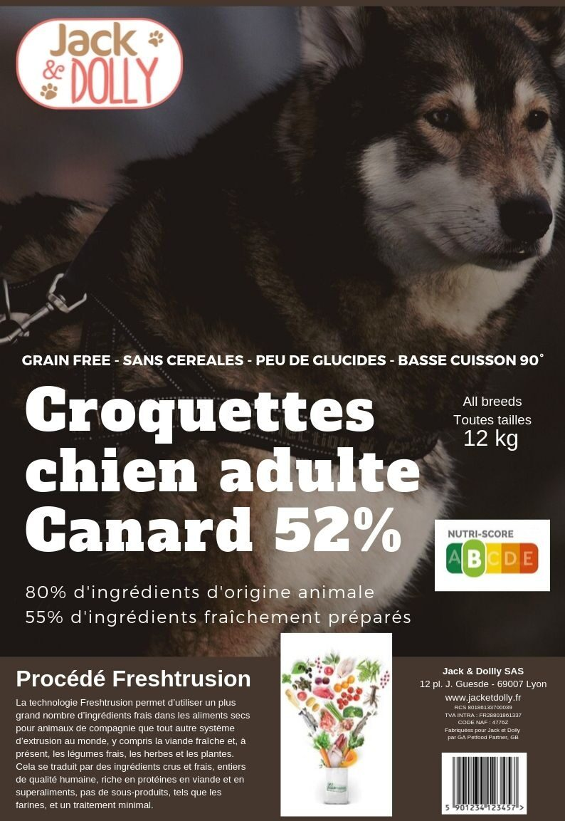 Croquettes pour chiens adulte au canard - Product