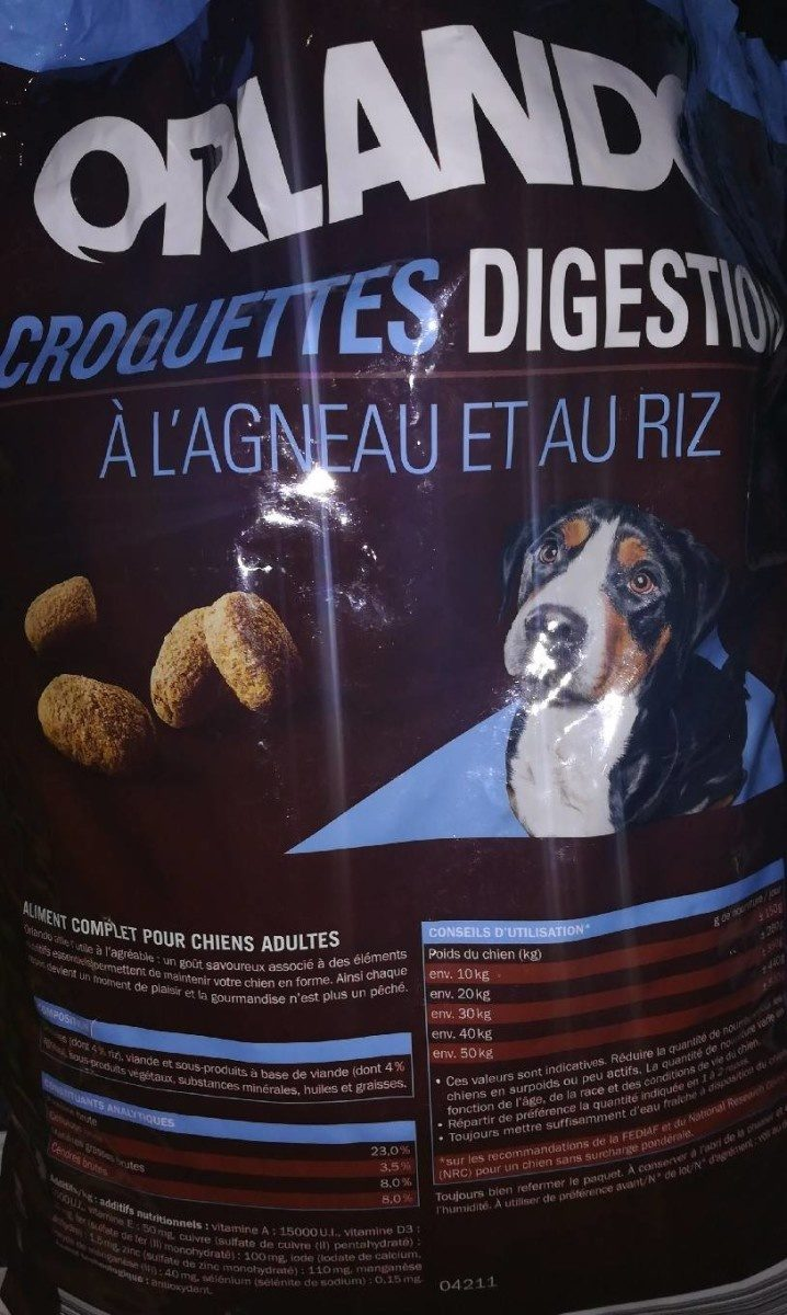 ORLANDO digestion croquettes a l'agneau et au riz - Product - fr