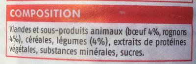 Bouchées en sauce - au boeuf, aux rognons et aux légumes - Ingredients - fr