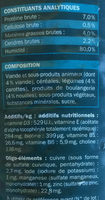 Bouchées à la viande, aux pâtes et aux carottes en sauce - Nutrition facts - fr