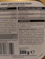 Paté pour chien - Ingredients