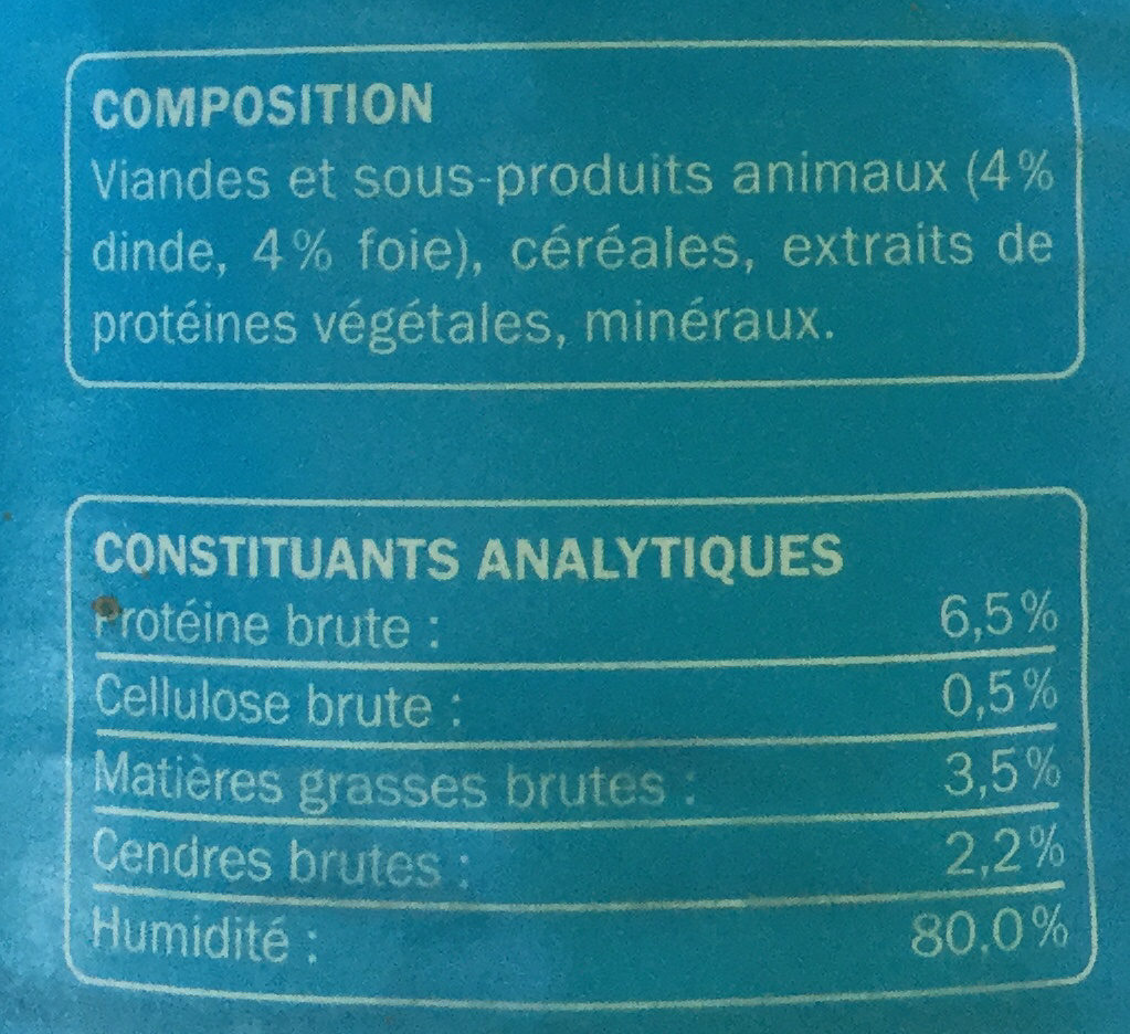 Émincés à la dinde et au foie - Ingredients - fr