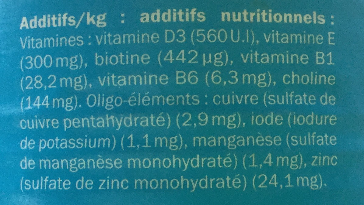 Émincés à la dinde et au foie - Informations nutritionnelles