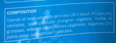 Complet - au bœuf, au poulet et petits pois ajoutés - Ingredients - fr
