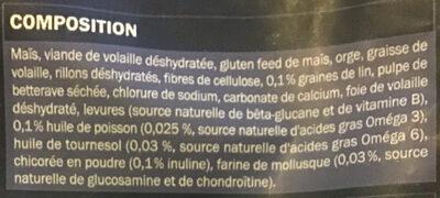 Stérilisé - Ingredients - fr