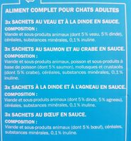 Émincés en sauce - Ingredients - fr
