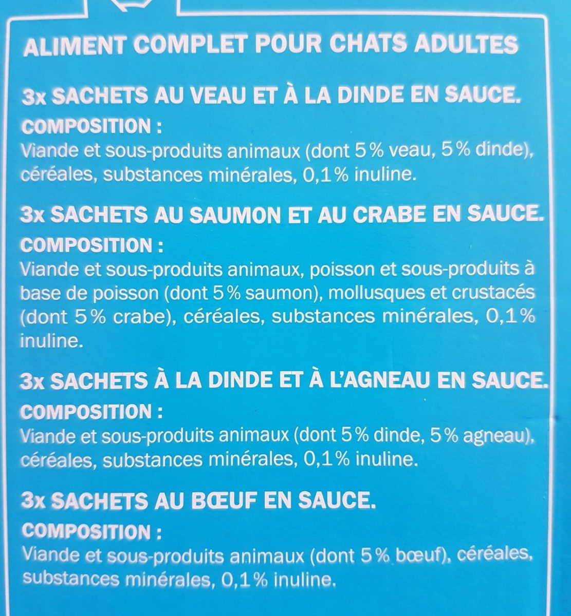 Émincés en sauce - Ingredients