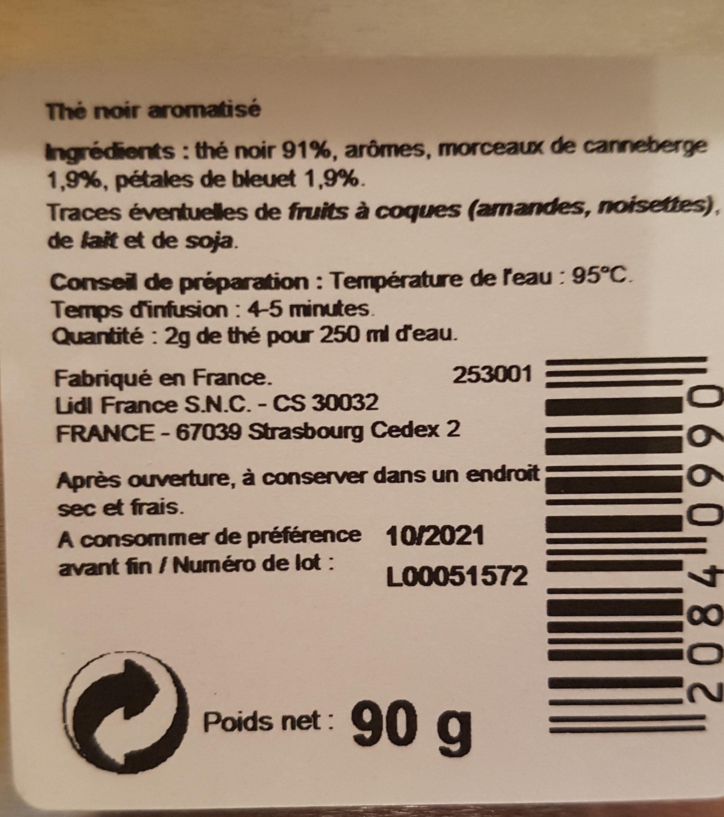 Thé de Noël canneberge - Ingredients - fr