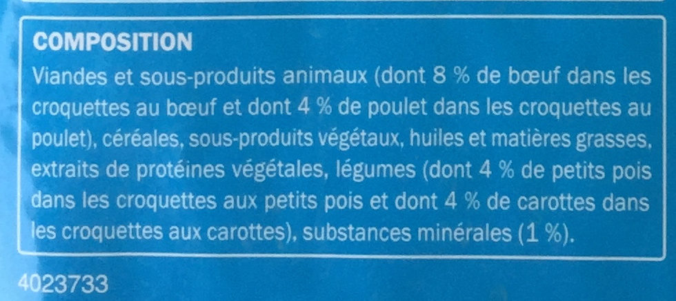 Au bœuf - Ingredients
