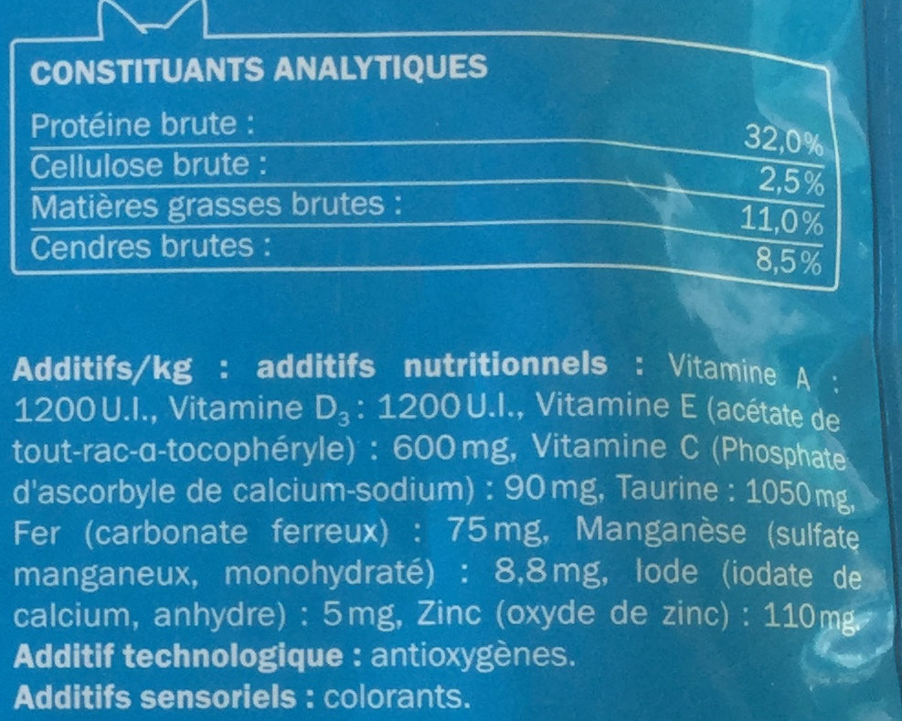Au bœuf - Nutrition facts - fr