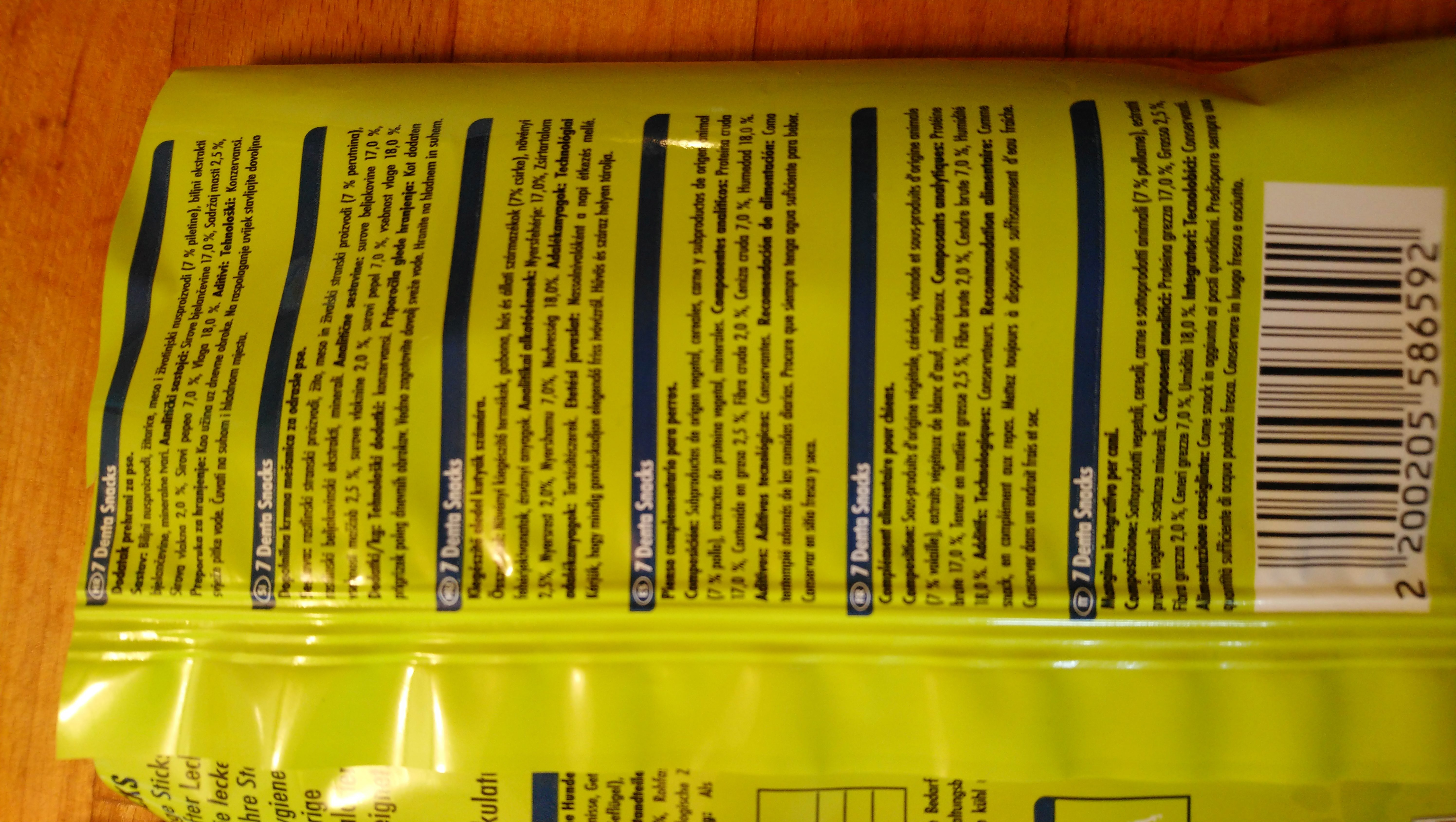 Pet Bistro Zahnpflege Sticks mit Geflügel - Ingredients