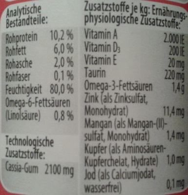 Feine pastete mit Rind und Huhn - Nutrition facts