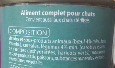 Mijoté Boeuf foie et petits légumes - Ingredients - fr