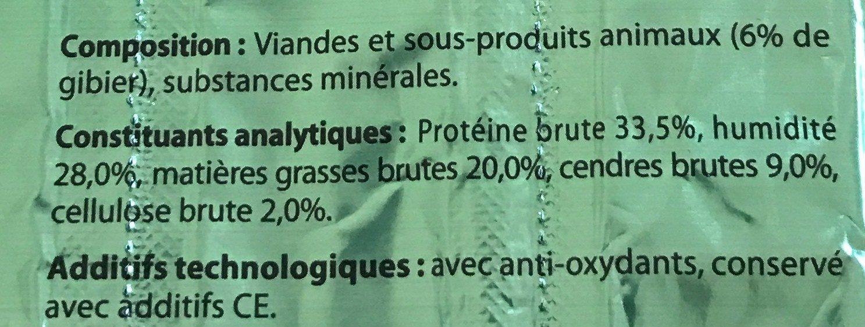 Sticks friandise au gibier - Ingredients