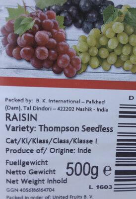 raisin - Product - fr