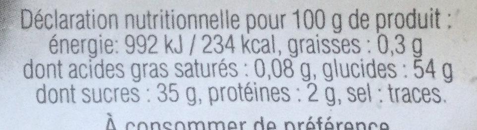 Spécialité aux pruneaux - Nutrition facts