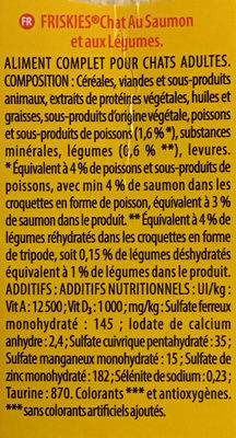 Saumon et légumes - Ingredients