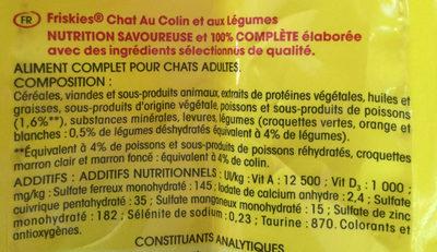 colin légumes - Ingredients