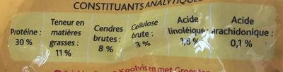 colin légumes - Nutrition facts