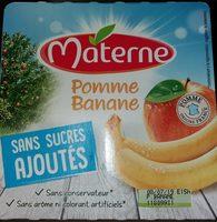 Compotes Pommes bananes - Produit
