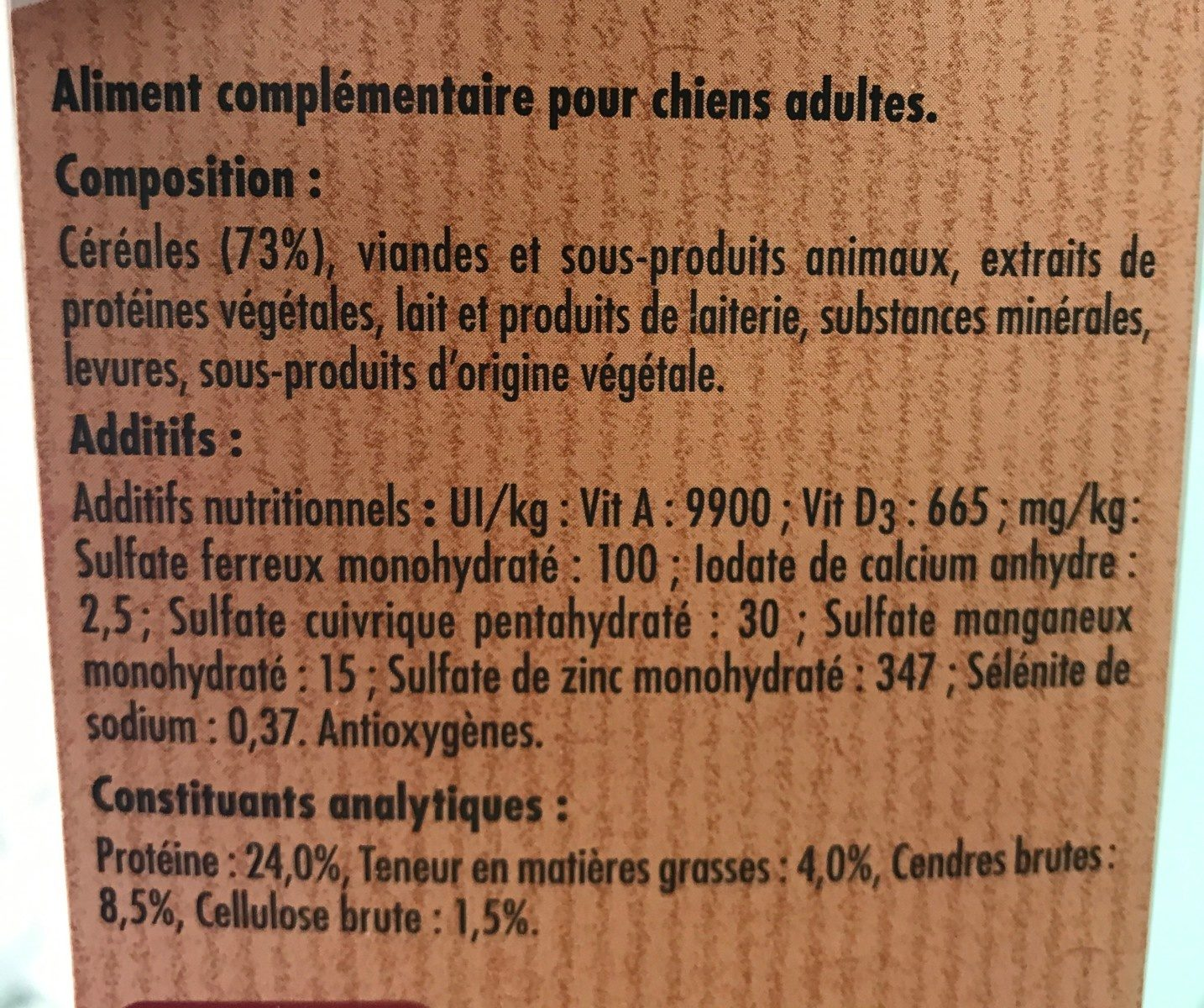 Fido os biscuit - Ingredients