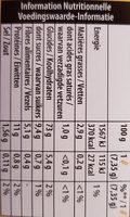 Cracotte céréales complètes - Informations nutritionnelles