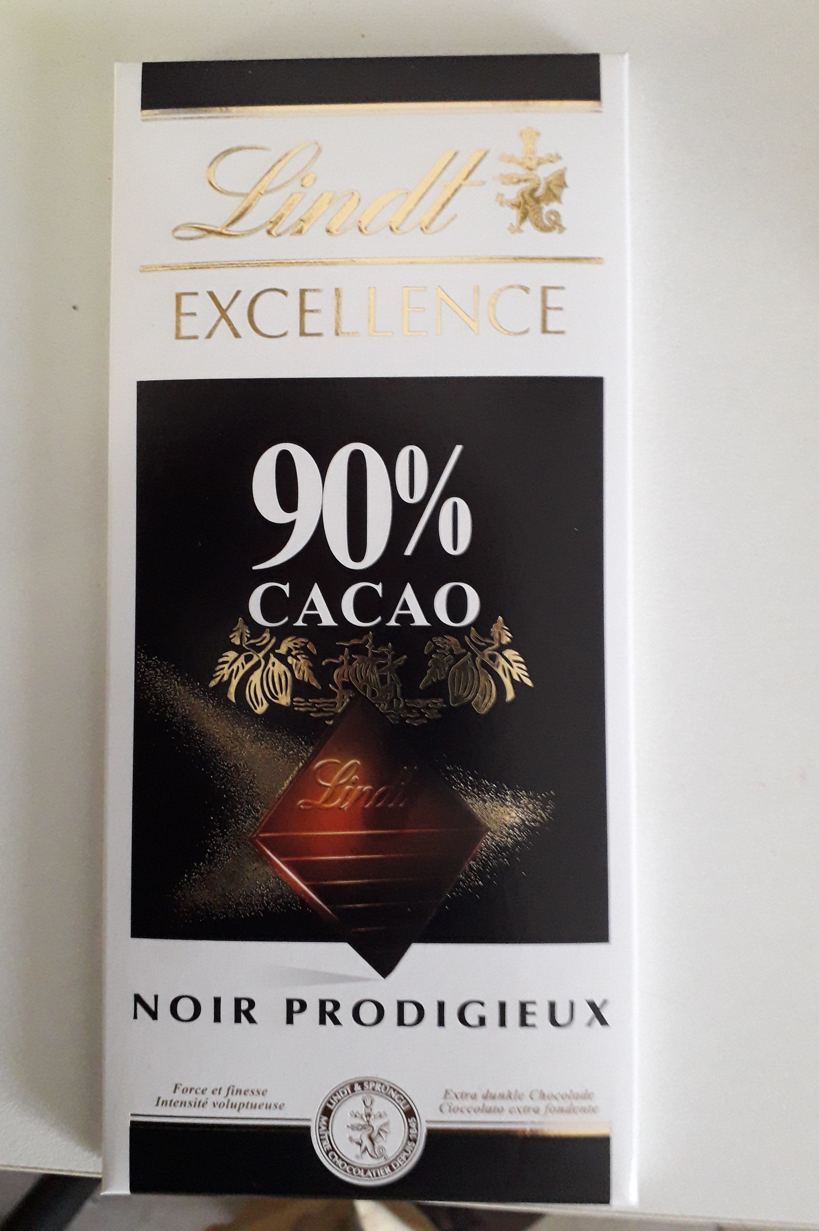 LINDT EXCELLENCE 90% CACAO - Product - fr