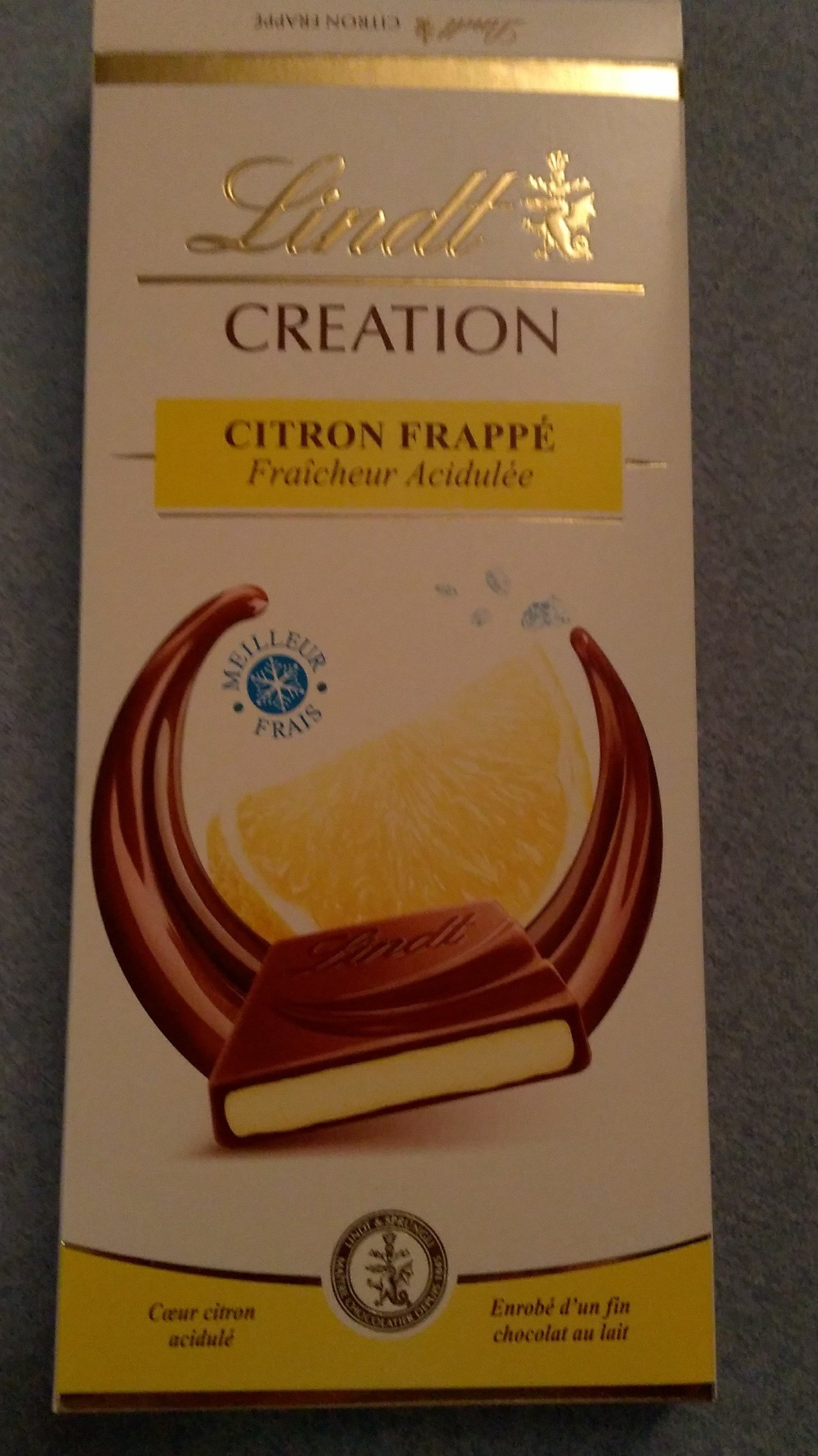 lindt chocolat creation citron frappé - Product - fr