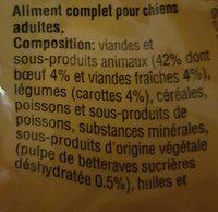 Aliment Pour Chien Morceaux Choisis Au Boeuf Pedigree, - Ingredients