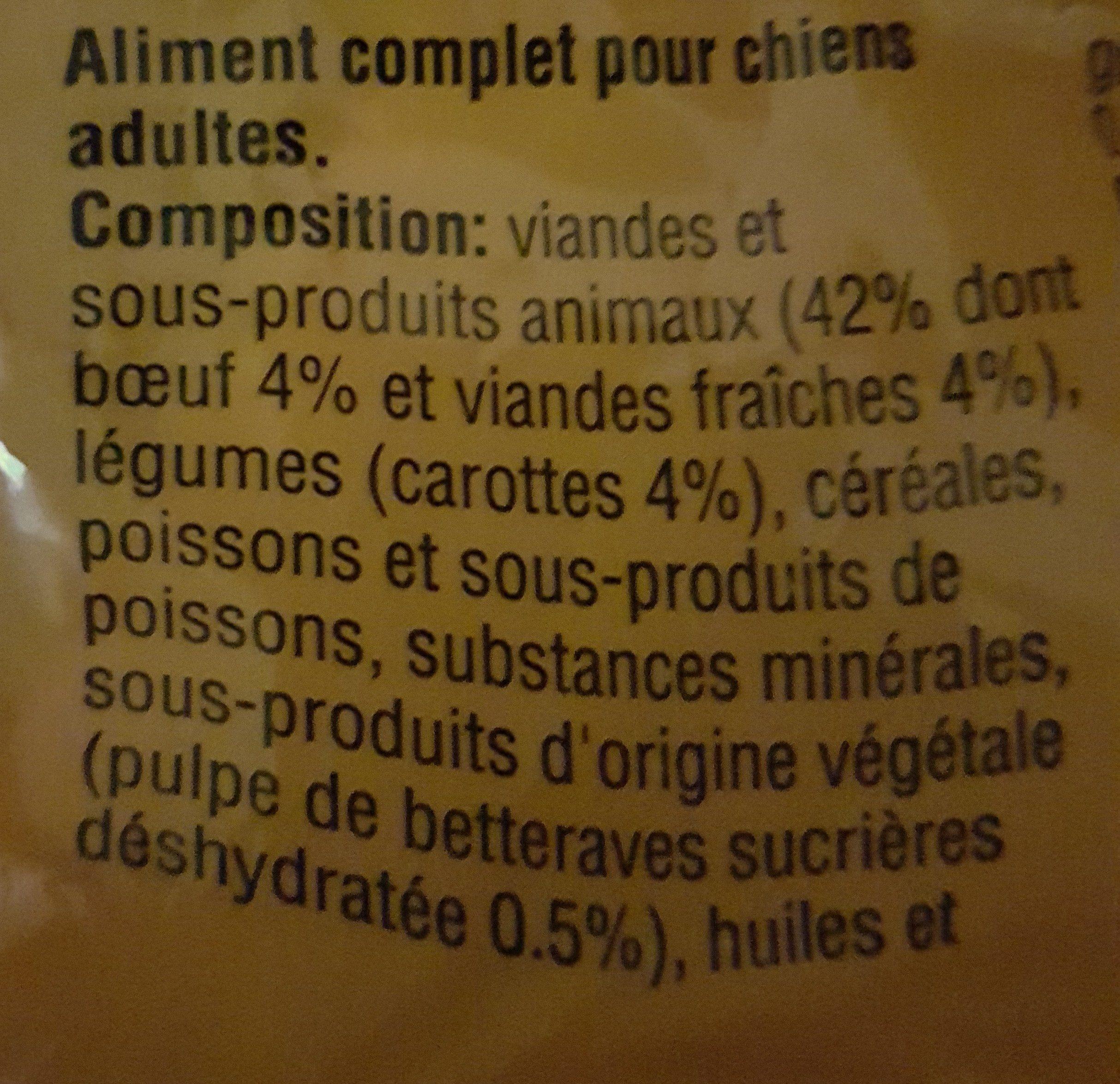 Aliment Pour Chien Morceaux Choisis Au Boeuf Pedigree, - Ingrédients