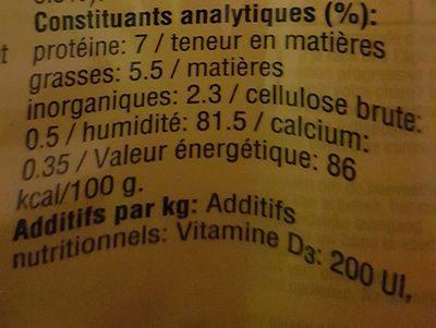 Aliment Pour Chien Morceaux Choisis Au Boeuf Pedigree, - Nutrition facts